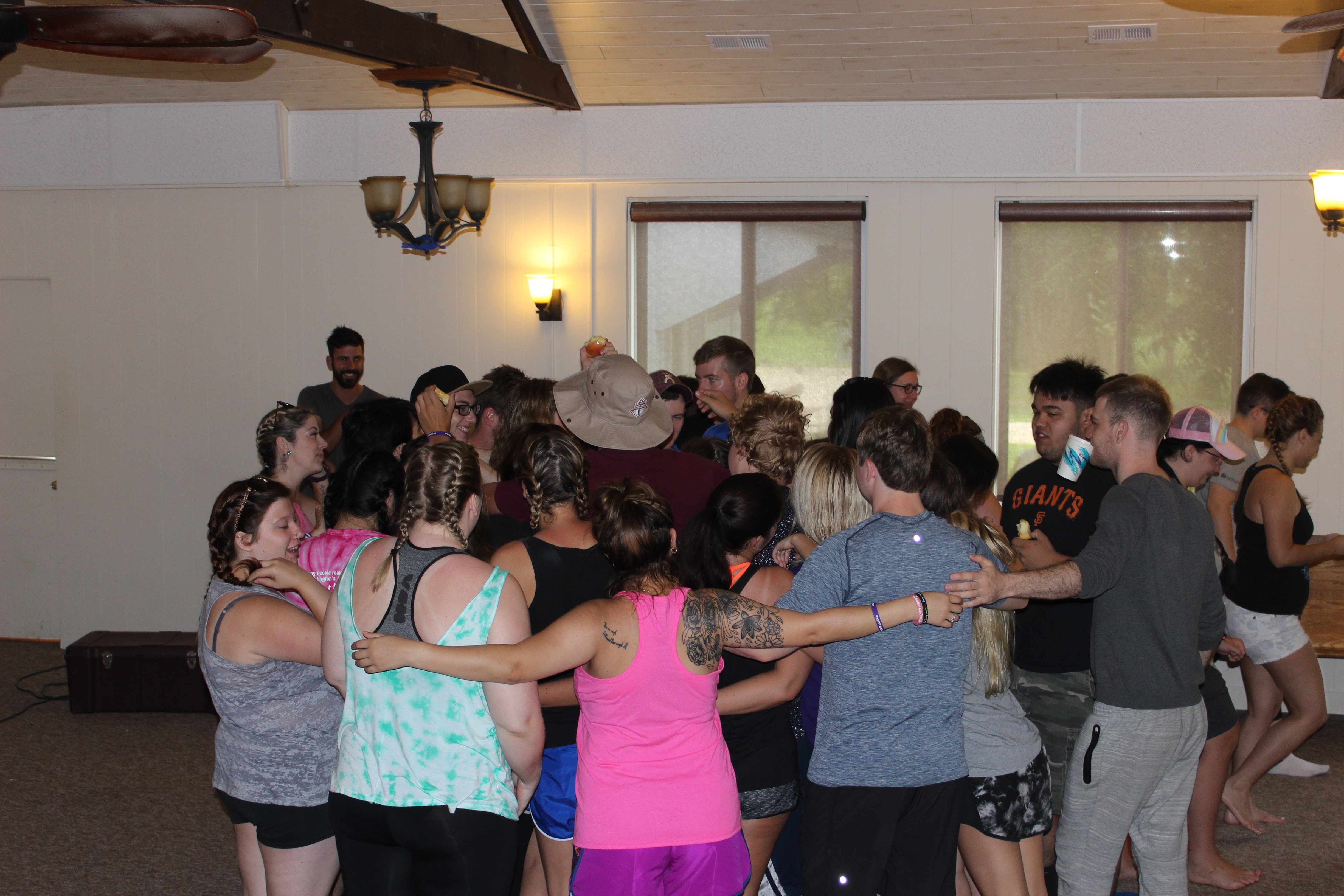 Camp group hug